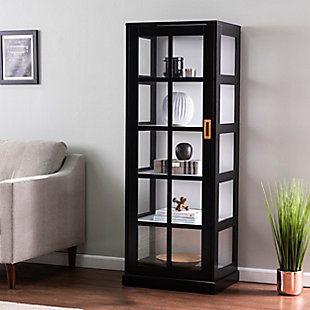 Southern Enterprises Rayleigh Tall Curio Cabinet, , rollover