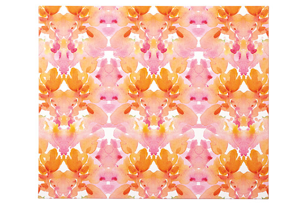 Jachai Wall Art by Ashley HomeStore, Orange, Pink & White