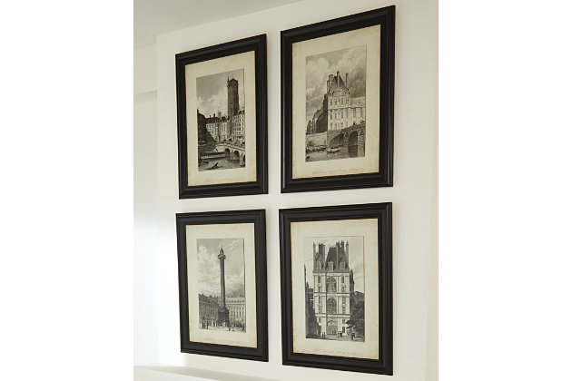 Dolph Wall Art (Set of 4) by Ashley HomeStore, Black & White