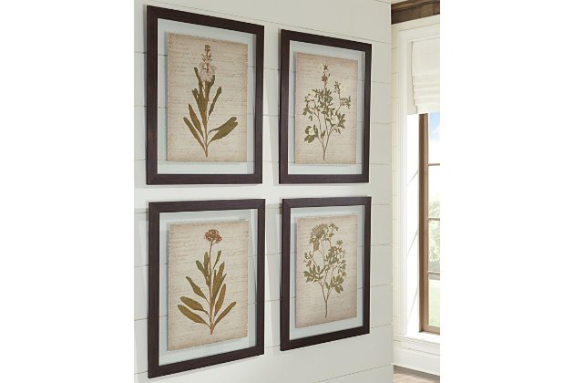 Dyani Wall Art (Set of 4) by Ashley HomeStore, Multi