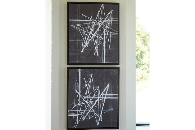 Duena Wall Art (Set of 2) by Ashley HomeStore, Black & White