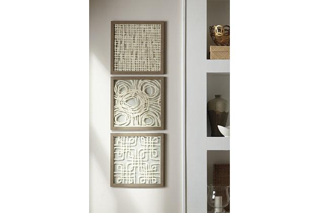 Odella Wall Decor (Set of 3) | Ashley Furniture HomeStore