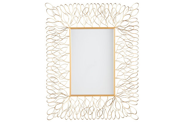 Ogdon Accent Mirror by Ashley HomeStore, Gold Finish