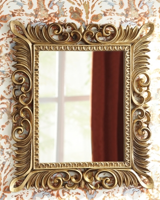 Denisha Accent Mirror by Ashley HomeStore, Antique Gold F...