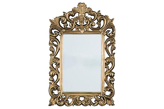 Denita Accent Mirror by Ashley HomeStore, Gold Finish