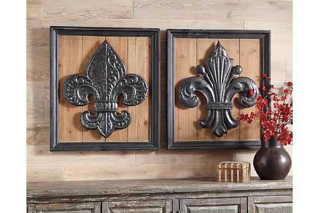 Donnan Wall Decor (Set of 2) by Ashley HomeStore, Black &...