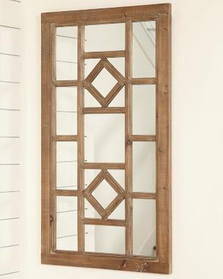 Dreama Accent Mirror by Ashley HomeStore, Natural
