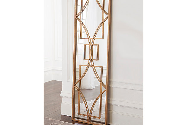 Djimon Accent Mirror by Ashley HomeStore, Gold Finish