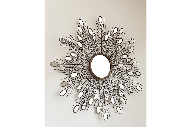 Drogo Accent Mirror by Ashley HomeStore, Gold Finish