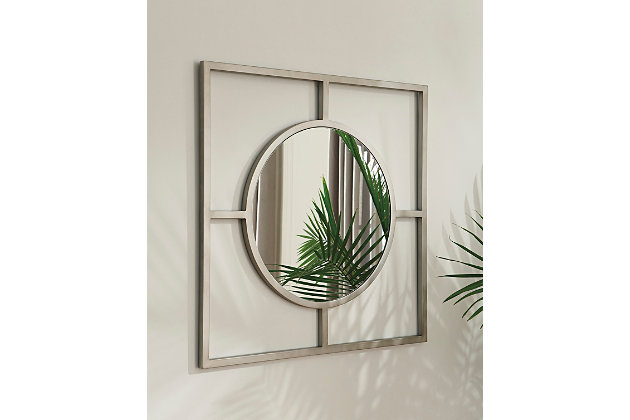 Druce Accent Mirror by Ashley HomeStore, White