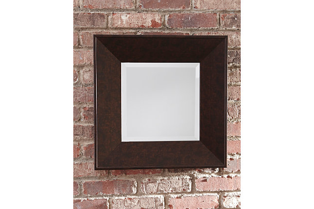 Duha Accent Mirror by Ashley HomeStore, Brown