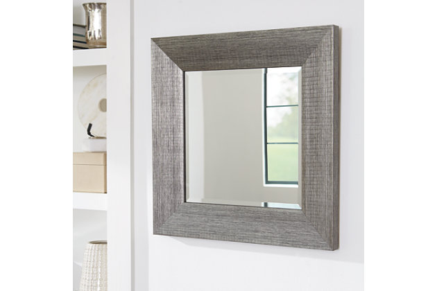 Duka Accent Mirror by Ashley HomeStore, Silver Finish