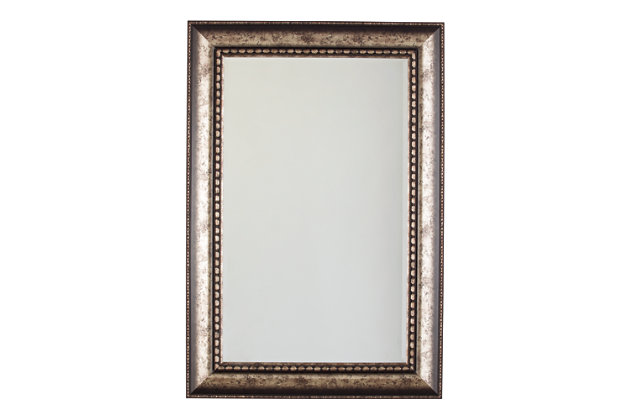 Dulal Accent Mirror by Ashley HomeStore, Silver Finish