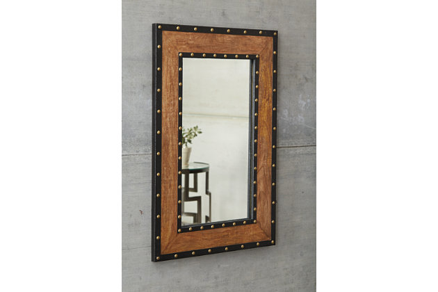 Dulcina Accent Mirror by Ashley HomeStore, Tan