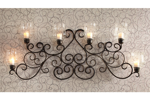 Dark Bronze Finish Durriyah Wall Sconce by Ashley HomeStore