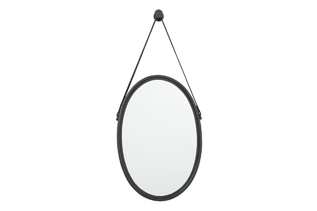 Dusan Accent Mirror by Ashley HomeStore, Black