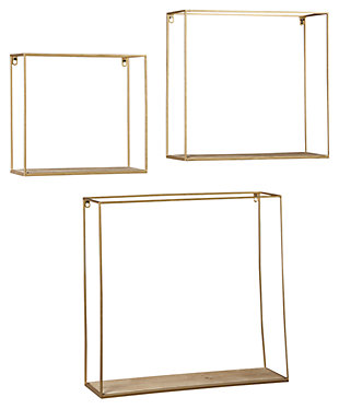 Efharis Wall Shelf (Set of 3), , large
