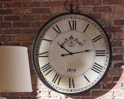 Ashley Augustina Wall Clock, Antique Black