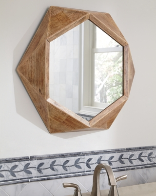 Ashley Corin Accent Mirror, Natural