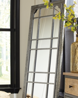 Ashley Remy Accent Mirror, Antique Gray
