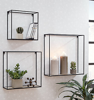 Efharis Wall Shelf (Set of 3), , rollover