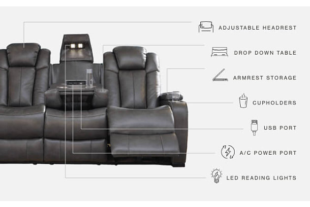 Turbulance Power Reclining Sofa, , large