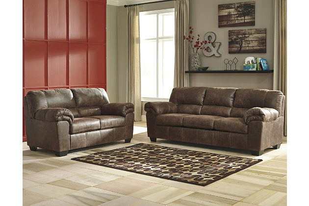Bladen Sofa And Loveseat, Coffee, Large ...