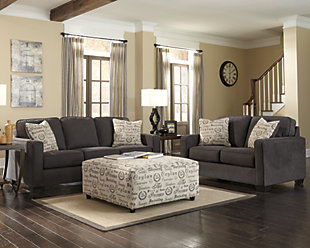 Alenya 3 Piece Living Room Set, Charcoal, rollover