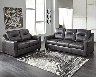Kensbridge Sofa and Loveseat, Charcoal, large
