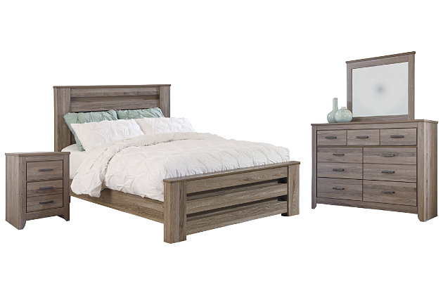 Zelen 6-Piece Queen Bedroom | Ashley Furniture HomeStore