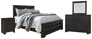 Brinxton 6-Piece Queen Bedroom, Black, large