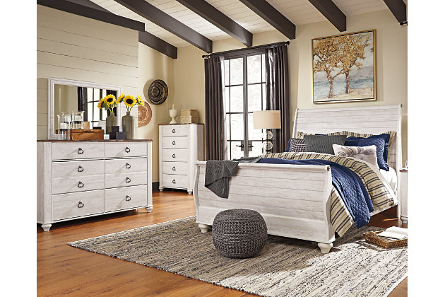 Room decorating idea with this furniture. Willowton 5 Piece Queen Master Bedroom   Ashley Furniture HomeStore