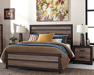 Harlinton Queen Panel Bed with 2 Nightstands, , rollover