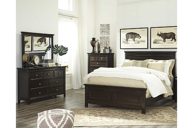 Alexee 5-Piece King Bedroom by Ashley HomeStore, Brown
