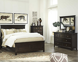 Alexee 5-Piece Queen Bedroom, Dark Brown, rollover
