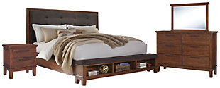 Ralene 6-Piece Queen Bedroom, Medium Brown, large