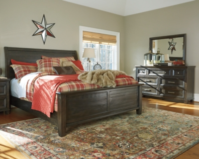 View King Sleigh Bedroom Grayish Brown Piece Product Photo