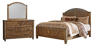 Colestad 5-Piece Queen Bedroom, Light Brown, large