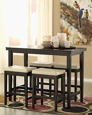 Kimonte 5-Piece Counter Height Dining Room, Ivory, rollover