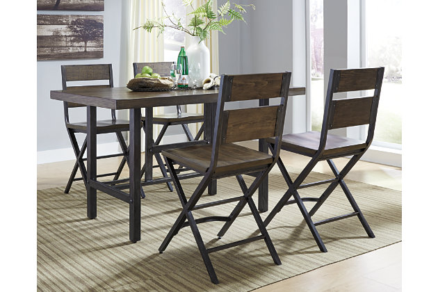 Kavara 5-Piece Dining Set by Ashley HomeStore, Brown