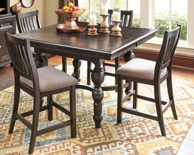 Counter Dining Set Grayish Brown Piece Product Photo 84