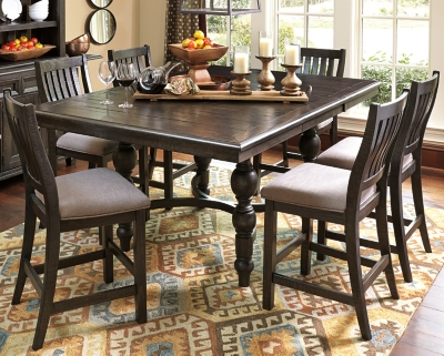Stylish Counter Dining Set Brown Piece Product Photo