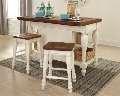 Marsilona 3Piece Kitchen Island Set Ashley Furniture HomeStore