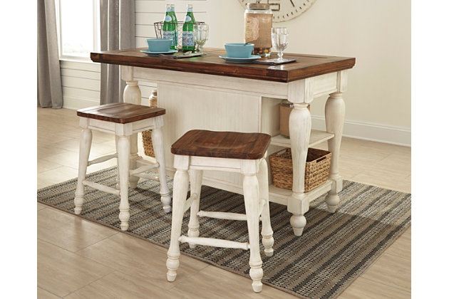 Nice Marsilona 3 Piece Kitchen Island Set, , Large ...