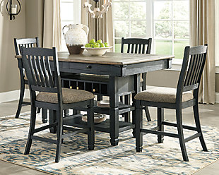 Tyler Creek Counter Height Dining Table and 4 Barstools, , rollover
