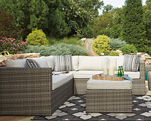 Peckham Park 4-Piece Outdoor Sectional Set, , rollover