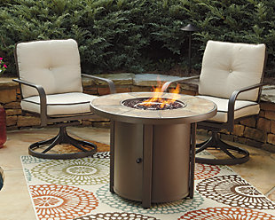 ... Large Predmore 3 Piece Outdoor Fire Pit Conversation Set, , Rollover
