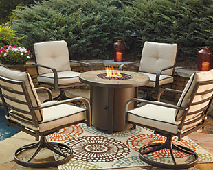 Predmore 5-Piece Outdoor Fire Pit Conversation Set, , rollover
