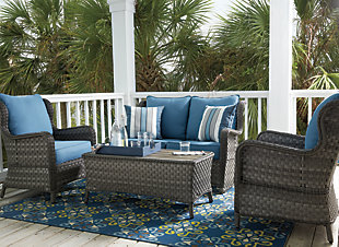 Awesome ... Large Abbots Court 4 Piece Outdoor Conversation Set, , Rollover