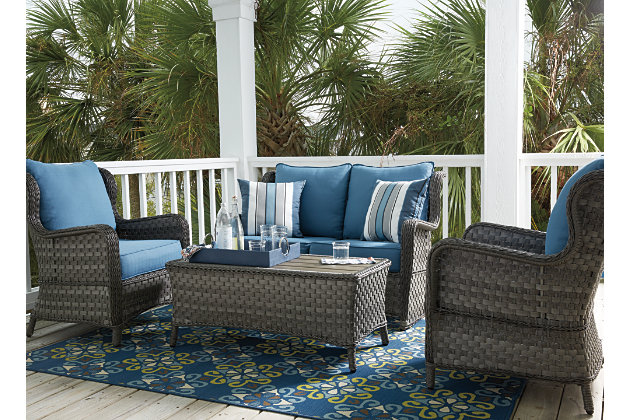 Abbots Court 4 Piece Outdoor Conversation Set, , Large ...